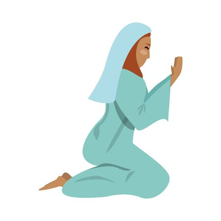 merry christmas nativity christian manger catholic religion december biblical mary scene cartoon vector illustration graphic design  イラスト・ベクター素材