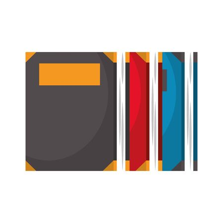 Set of books education isolated cartoon vector illustration graphic design
