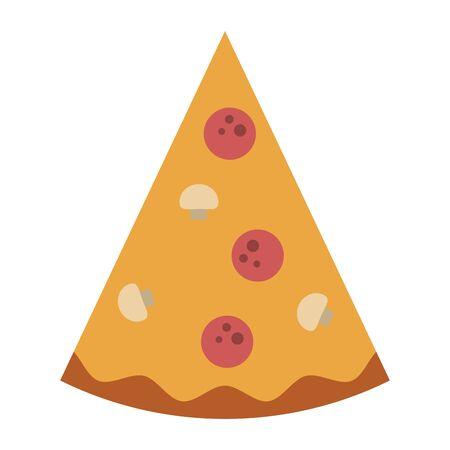 restaurant food and cuisine pizza icon cartoons vector illustration graphic design