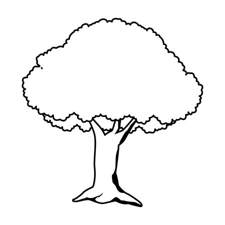 Tree nature cartoon isolated ,vector illustration graphic design.