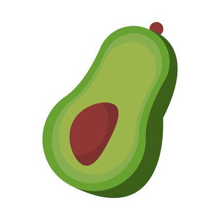 mexico culture and foods cartoons avocado vector illustration graphic design
