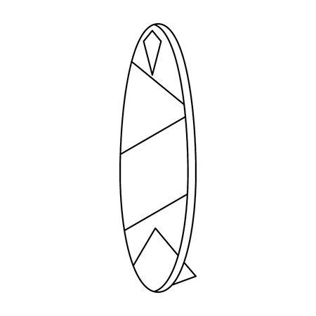 surf table summer vacation isolated cartoon vector illustration graphic design Фото со стока - 129792675
