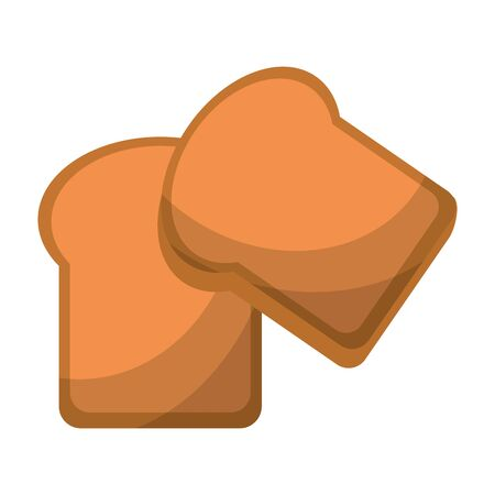 Bread sliced wheat food isolated vector illustration graphic design