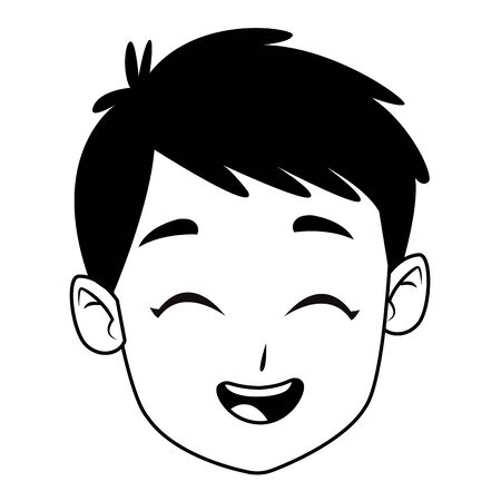 child smiling and happy portrait isolated vector illustration graphic design