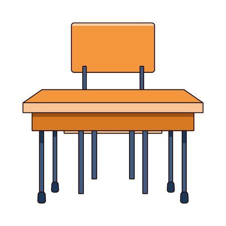 school desk icon cartoon isolated vector illustration graphic design Ilustrace