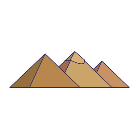 Egypt pyramids monuments isolated desing