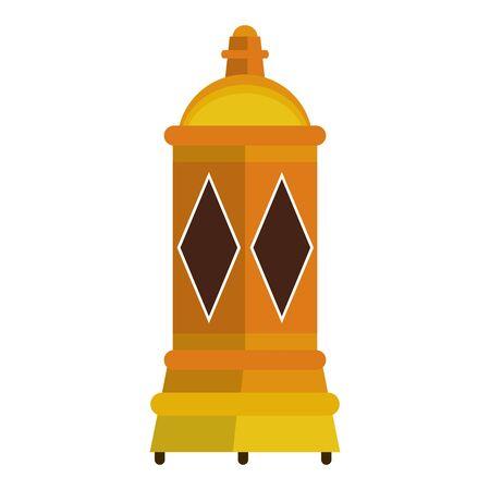 lantern decoration festival golden lamp, arabic and oriental culture cartoon vector illustration graphic design Иллюстрация