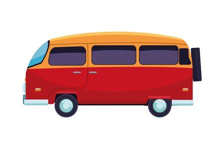 Retro vintage van vehicle cartoon vector illustration graphic design Banque d'images - 129795419