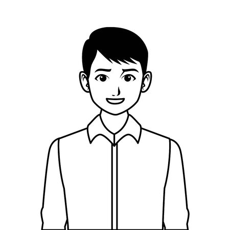 indian asian religion oriental culture, young man isolated cartoon vector illustration graphic design