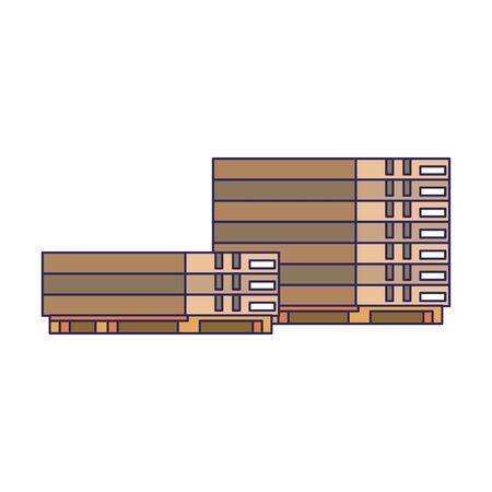 Warehouse pallets for cargo isolated vector illustration