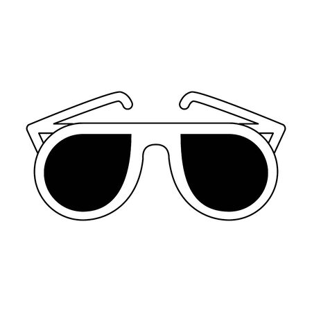 Fashion sunglasses cartoon isolated symbol vector illustration graphic design