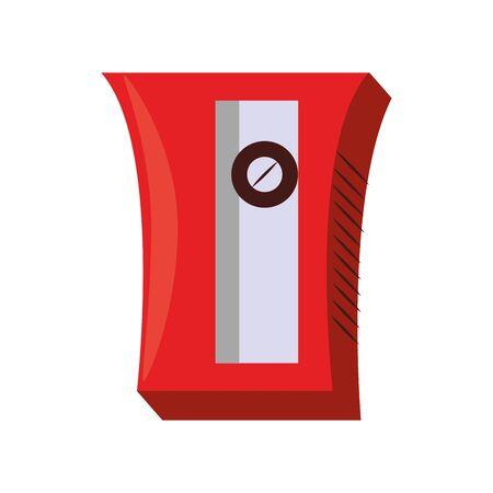 sharpener school utensil symbol isolated vector illustration graphic design
