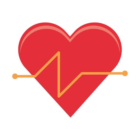 cardiac frequency and healthy heart and isolated symbols vector illustration graphic design  イラスト・ベクター素材