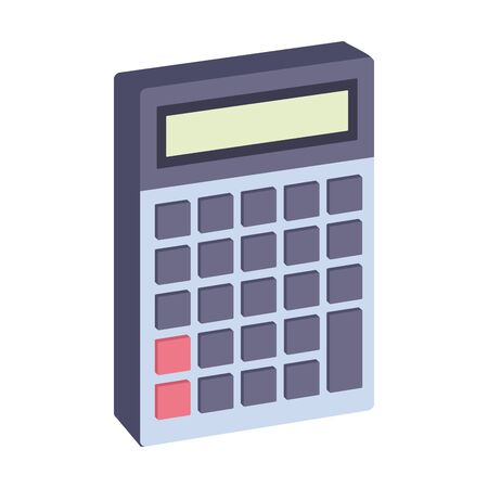 Calculator math device isometric symbol ,vector illustration graphic design.
