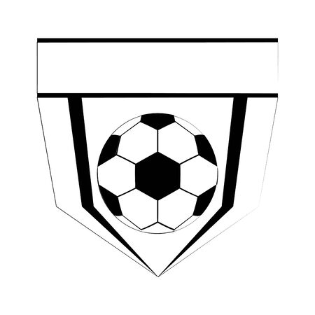 Soccer football sport game emblem team with ball vector illustration graphic design