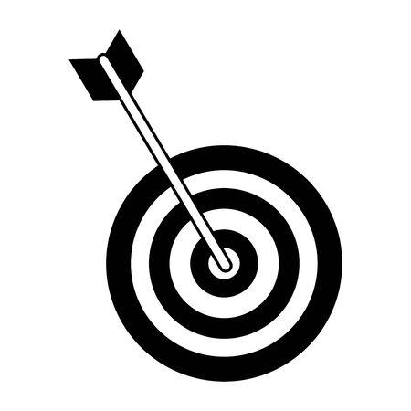 Dartboard target game isolated symbol vector illustration graphic design