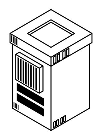 database server and computing technology isolated vector illustration graphic design