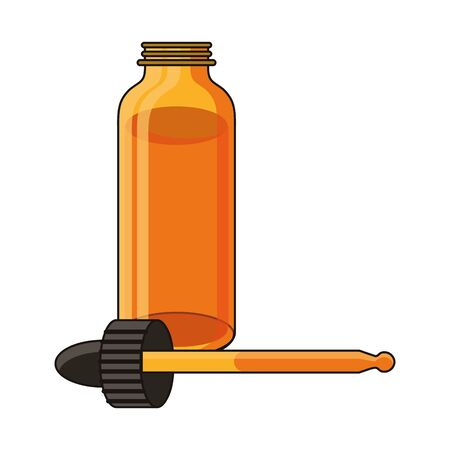 cannabis marihuana medical marijuana medicine sativa hemp oil bottle cartoon vector illustration graphic design 版權商用圖片 - 130772289