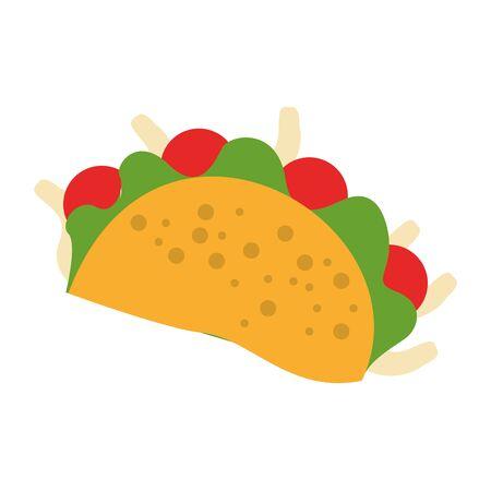 mexico culture and foods cartoons taco vector illustration graphic design Ilustração