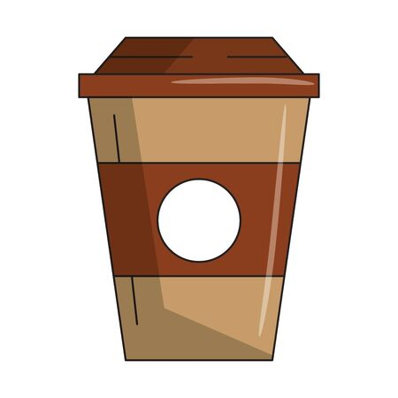 beverage liqueur and drink coffee cup icon cartoons vector illustration graphic design Çizim