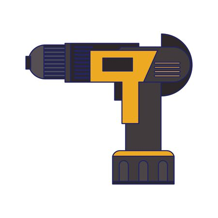 drill construction tool isolated symbol vector illustration graphic design