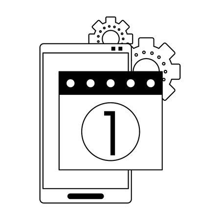 Technical support technology group of symbols, online help service. vector illustration graphic design Illustration