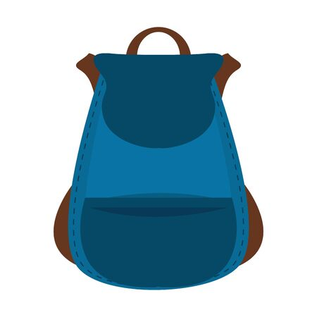 Backpack school accessory isolated cartoon vector illustration graphic design
