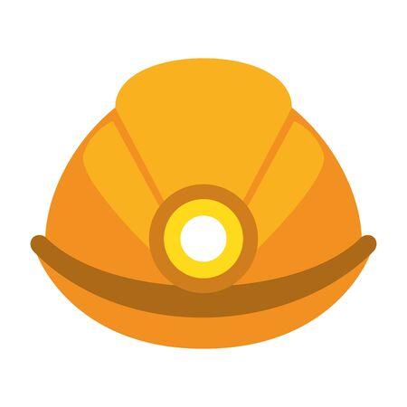 Worker helmet with light symbol vector illustration graphic design Illustration