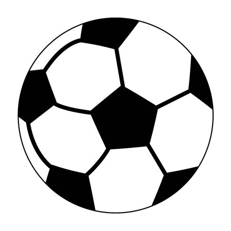 Soccer sport ball cartoon isolated symbol vector illustration graphic design