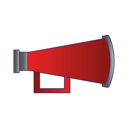 megaphone speaker attention red loudspeaker cartoon vector illustration graphic design Çizim