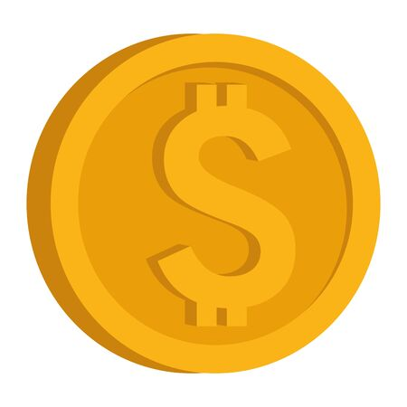 Coin money isometric symbol isolated ,vector illustration graphic design.