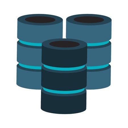 Database servers disks technlogy symbol vector illustration graphic design 일러스트