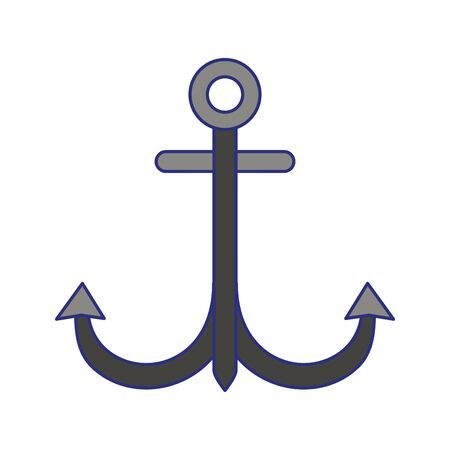Anchor nautical marine symbol isolated vector illustration graphic design