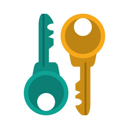 Security keys symbol isolated vector illustration graphic design