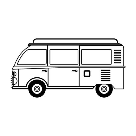 Vintage hippie van vehicle sideview vector illustration graphic design Banque d'images - 130721096