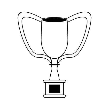 champion competition winner silver trophy cartoon vector illustration graphic design