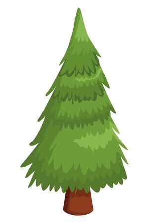 Tree pine nature cartoon ,vector illustration .graphic design. Stockfoto - 130721123