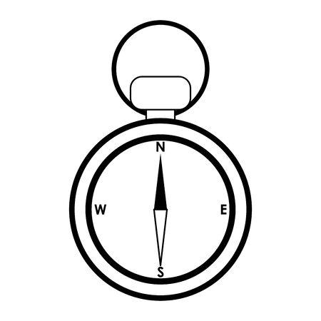 Vintage navigation compass isolated symbol vector illustration graphic design Çizim