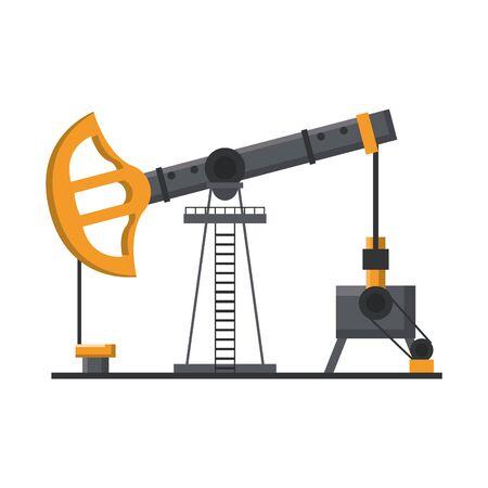 Oil refinery pump machine isolated symbol vector illustration graphic design