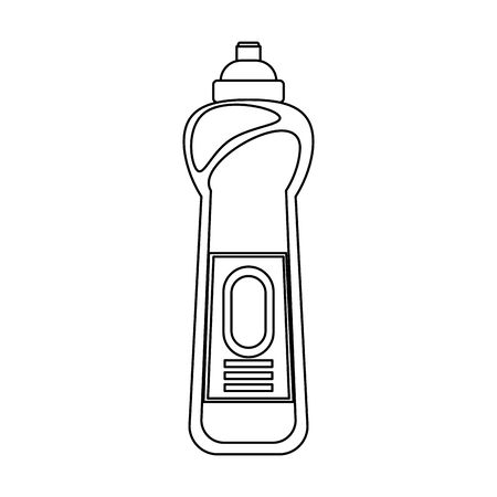 Disinfectant soap bottles with dispenser isoalted symbol vector illustration graphic design.