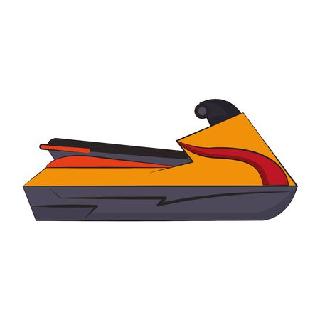 Jet Ski water sport motor bike isolated vector illustration graphic design