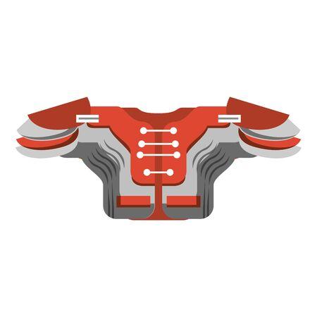 american football sport game shoulder pad uniform accesory cartoon vector illustration graphic design