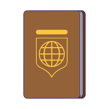Passport travel document isolated symbol