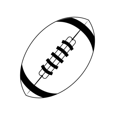 american football sport game ball cartoon vector illustration graphic design 向量圖像