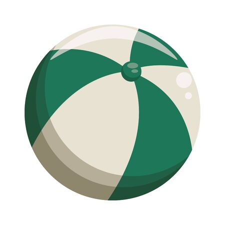 Beach ball cartoon isolated symbol vector illustration graphic design