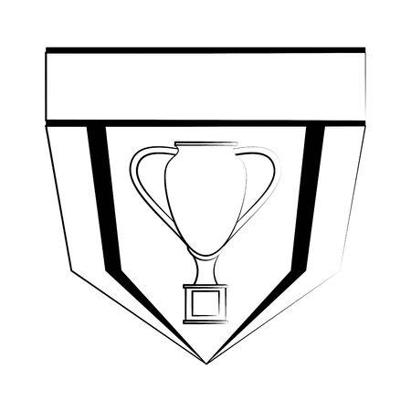 Soccer football sport game team emblem with trophy cup vector illustration graphic design