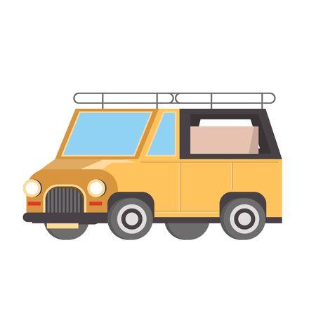 Safari van vehicle isolated symbol vector illustration Banque d'images - 130945873