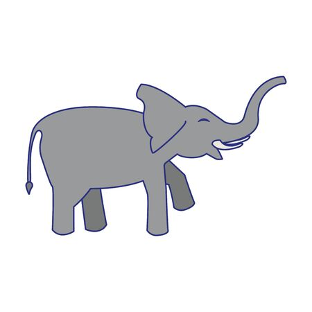 Elephant wildlife animal cartoon sideview isolated vector illustration graphic design