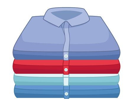 laundry wash and cleaning folded clothes icon cartoon vector illustration graphic design