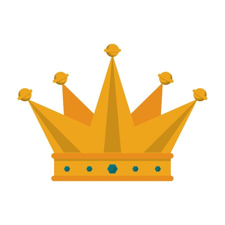 crown king luxury jewel cartoon vector illustration graphic design
